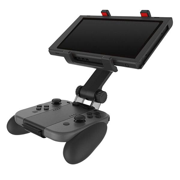 NintendoSwitch用ハンドルブラケットニンテンドースイッチアクセサリーJoy-Conグリップ本体合体一体化◇TNS-1