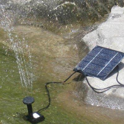 ソーラーパネル 省エネ 電源いらない ソーラー池ポンプ◇FS-H4009