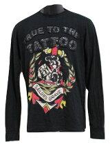 エドハーディーedhardyメンズ長袖TシャツブラックM03PTLS424新品黒アメリカ製