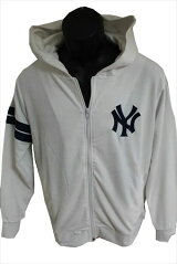 Majesticマジェスティックパーカーホワイト新品白ニューヨークヤンキースNEWYORKYANKEESフーディーフルジップパイル地