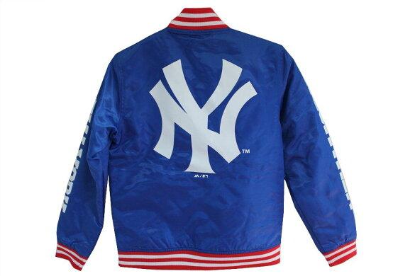 ヤンキースMLBMajesticNewYorkYankeesチームジャケットキッズブルー新品