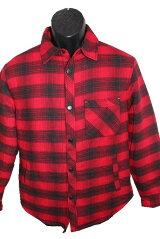ビーノBENOメンズ中綿シャツジャケット赤黒チェック新品