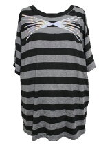 CostumeDept(コスチュームデプト)ボーダーチュニックTシャツ