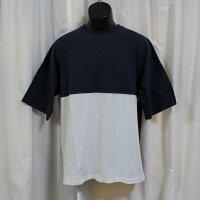 メンズ半袖Tシャツ アウトレット ネイビー/ホワイト