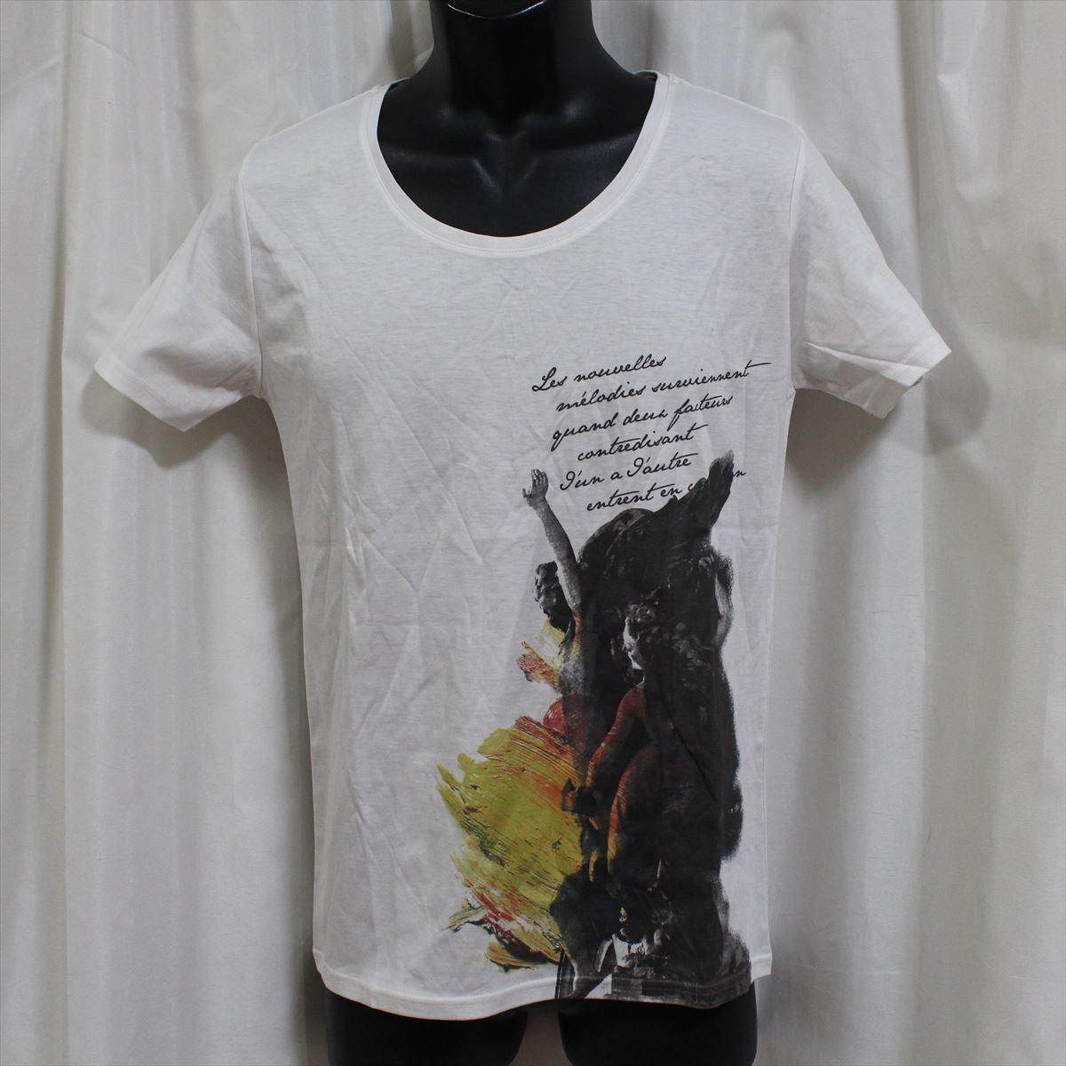 デスピエール DES PIERRE メンズ半袖Tシャツ ホワイト 白 80020 新品