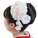 髪飾り2点セット和装花成人式卒業式結婚式パーティWatmospherecuteレーヌローズブーケ〈全3色〉