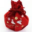 【ネコポス便可】【女の子 巾着】赤 ピンク 桜 梅 一本手【着物用 浴衣用 バッグ かばん】【女児 女子 子供 キッズ】【七五三小物 卒園式】【あす楽】