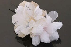 髪飾り和装新作2点セット和装花成人式卒業式結婚式パーティWatmospherecuteアームコスモス〈白〉