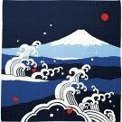 【濱文様・風呂敷富士山と大波