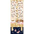 【濱文様・絵てぬぐい】豆柴と猫の春