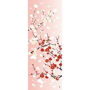 【濱文様・絵てぬぐい】紅白梅とぼたん雪