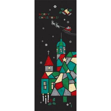 ■メール便OK♪合計2500円(税抜)以上でメール便送料無料■【濱文様・絵てぬぐい】聖夜の灯り〜クリスマス柄〜