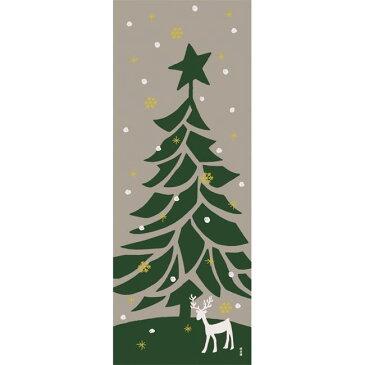 ■メール便OK♪合計2500円(税抜)以上でメール便送料無料■【濱文様・絵てぬぐい】もみの木〜クリスマス柄〜