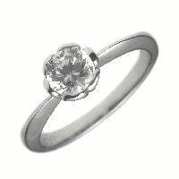 0.6ct.E-VVS2-3EX(H&C)PTプラチナ婚約指輪(エンゲージリング)ダイヤモンドリング、フラワー(花びら)タイプ(鑑定書付)