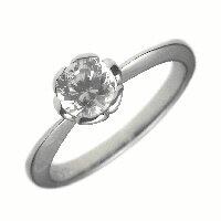 1.0ct.D-VVS1-3EX(H&C)PTプラチナ婚約指輪(エンゲージリング)ダイヤモンドリング、フラワー(花びら)タイプ(鑑定書付)