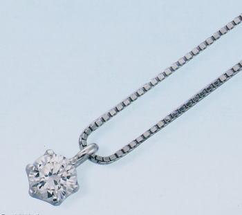 0.2ct.D-VVS1-3EX(H&C)PTプラチナダイヤモンドペンダント(鑑定書付)6本爪留(P0347)