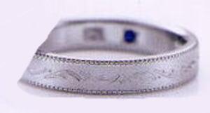 ★お買い得特別価格!!★RomanticBlueロマンティックブルー4RK018(30)マリッジリング・結婚指輪・ペアリング用(1本)