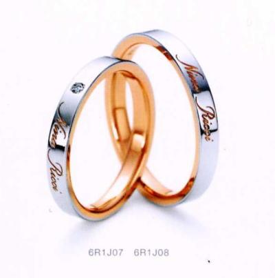 ★NINA RICCI【ニナリッチ】(47)6R1J07-3ダイヤ&(48)6R1J08-3 2本セットマリッジリング・結婚指輪・ペアリング