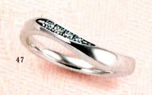 ★【卸直営店のお得な特別割引価格★Angerosa(アンジェローザ)(47)AR-102(L),  Pt900 マリッジリング、結婚指輪、ペアリング用(1本)