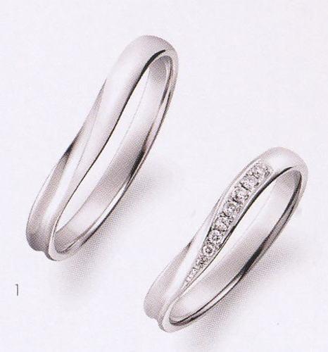 True Love トゥルーラブ (1) P701 & (2) P701D ダイヤ = 2本セット 卸直営店 お得な特別割引価格 Pt900 プラチナ マリッジリング 結婚指輪 ペアリング