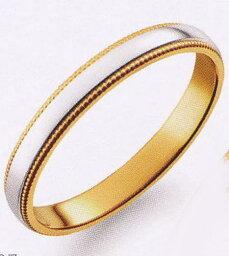 True Love トゥルーラブ (37) M377 卸直営店 Pt900 プラチナ & K18YG イエローゴールド マリッジリング 結婚指輪 ペアリング(1本)