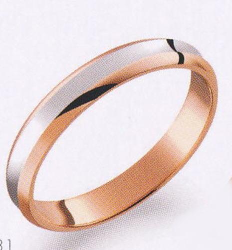 True Love トゥルーラブ (31) M374 卸直営店 お得な特別割引価格 Pt900 プラチナ & K18PG ピンクゴールド マリッジリング 結婚指輪 ペアリング(1本):JEWELRY LAND