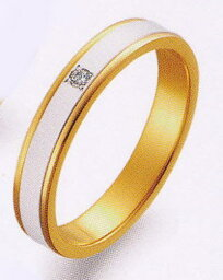 True Love トゥルーラブ (40) M097D-2 ダイヤ 卸直営店 Pt900 プラチナ & K18YG イエローゴールド マリッジリング 結婚指輪 ペアリング(1本)
