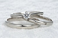 0.2ct.ダイヤモンド婚約指輪(エンゲージリング)/結婚指輪(マリッジリング)3本セットPRF005【当店のオリジナル製品】