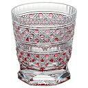 KAGAMI CRYSTAL カガミクリスタル 江戸切子 冷酒杯 八角籠目紋(赤) 100cc T3253-2306CAU 盃 1