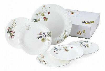 鳴海製陶 ナルミ NARUMI ルーシーガーデン アソートケーキセット 96010-23093P ケーキ皿 大皿プレート 中皿プレート