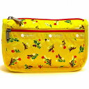 LeSportsac レスポートサック ポーチ TRAVEL COSMETIC YUCCA YELLOW BOUQUET