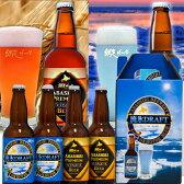 【送料無料】北海道 地ビール 流氷ドラフト+プレミアム4本ギフト(各2本) 【代引き不可】網走ビール/お取り寄せ/通販/お土産/ギフト/
