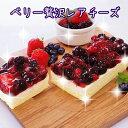 【送料無料】チーズケーキ 5種のベリー贅沢レアチーズ (約280g)×2 / ク