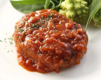 ヤヨイサンフーズまろやかソースのハンバーグトマトソース115g×80個