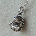 はりねずみペンダントシルバーアクセサリーネックレスハリネズミ動物モチーフSILVER925