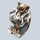 かばの紳士リング送料無料カバ動物モチーフ指輪18金K18ピンクゴールドシルバーアクセサリーSILVER925