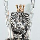ライオンの王様ペンダント(らいおんネックレス)動物モチーフ18金K18ピンクゴールドシルバーアクセサリーSILVER925