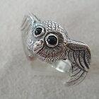 ふくろうリングフクロウ梟動物チーフ天然石オニキス指輪シルバーアクセサリーSILVER925