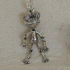 パペットカエルペンダントかえるネックレス蛙動物モチーフSILVER925