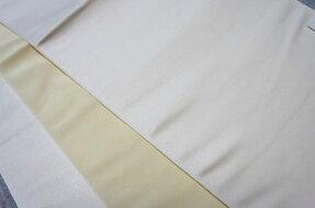 京袋帯ポリエステルおしゃれシック薄地白ホワイト【仕立て上がり・帯】特価品につき少々難有り