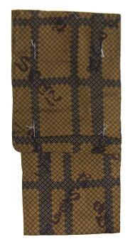着物浴衣男性用Lサイズプレタゆかたいろはにほへと茶系ブラウンモダンレトロ和服メンズ身丈:約146cm裄:約71cm袖丈:約約49cm仕立て上り綿浴衣店頭見切り品目立たない程度ですがキズが有ります