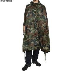 【keyword0323_raincoat】【アメリカ軍】新品 ミリタリーナイロンポンチョ ウッドランドカモ【ミリタリー】【ポンチョ】【レプリカ】【5色展開】【新品未使用】《WIP》【楽ギフ_包装】【楽ギフ_メッセ】