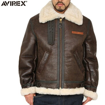 AVIREX アビレックス 2104 B-3 シープスキン レザージャケット BROWN 【2104 -055】《WIP》 ミリタリー 秋 冬 男性 春 ギフト プレゼント【Sx】