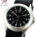 ROTHCO ロスコ 4427 MILITARY STYLE QUARTZ WATCH ミリタリー スタイル クォーツ ウォッチ BLACK 腕時計...