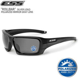 ESS E Ss Pharmaceutical ROLLBAR太陽眼鏡銀子標識偏光鏡子灰色透鏡BLACK人軍事太陽眼鏡眼罩偏光鏡片平滑透鏡耐衝撃sabaibarugemusabage裝備《WIP》男性禮物禮物