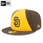 【15%OFF大特価】【メーカー取次】 NEW ERA ニューエラ 59FIFTY MLB On-Field サンディエゴ・パドレス イエローXブラウン 11457594 キャップ《WIP》ミリタリー 軍物 メンズ 男性 ギフト プレゼント