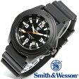 【クーポン対象外】 Smith & Wesson スミス&ウェッソン SOLDIER WATCH 腕時計 RUBBER STRAP BLACK SWW-12T-R《WIP》
