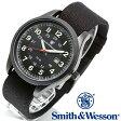 【クーポン対象外】 Smith & Wesson スミス&ウェッソン CADET WATCH 腕時計 BLACK/GREEN SWW-369-GR《WIP》