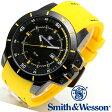 【クーポン対象外】 Smith & Wesson スミス&ウェッソン TROOPER WATCH 腕時計 YELLOW/BLACK SWW-397-YW《WIP》