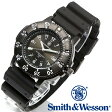 【クーポン対象外】 Smith & Wesson スミス&ウェッソン SWISS TRITIUM SPORT WATCH 腕時計 BLACK SWW-450-BLK《WIP》